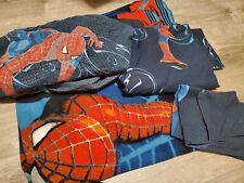 Marvel SPIDERMAN Boy's flat, Twin Sheets, pillow case Blue & spiderman blanket!!