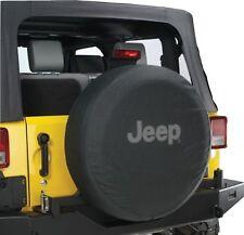 Jeep Wrangler Black Denim W/ Logo Spare Tire Cover 29 Inch Mopar OEM
