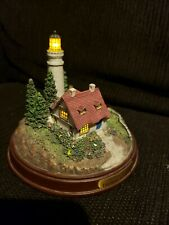 """Thomas Kinkade Seaside Memories """"Clearing Storm"""" Lighted Lighthouse, Tested"""