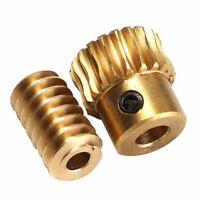 Motor Output Brass Copper Worm Wheel Gear 0.5 Modulus 1:10 Reduction Ratio Gear
