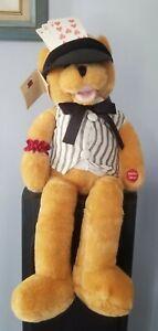 "VTG 1977 PBC Chantilly Lane Musical Bear ""The Gambler"" 22"" Works Great Orig. Tag"