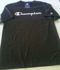 "Champion ""classic script logo"" T shirt, black, select sizes Large or XL"