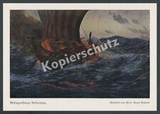 Bohrdt Wikinger Drachenboot Segel Totenfeier Walhalla Nordsee Nordland Seefahrt