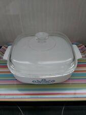 Vintage Corning Ware CORNFLOWER BLUE Covered Frying Pan A10 Corningware VGC