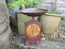 Rare Antique Cast Iron Scale with Original Pan Nouveau Shell Deco? Kitchen Shop