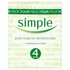 3x Simple Pure Soap 4X125g