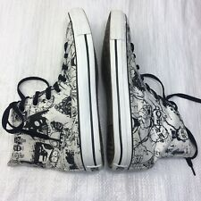 Converse All Star Gorillaz 2011 White Black Mens 8 Womens 10 Hi Top Sneakers