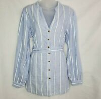 Women's Anthropologie Heart Of Building Tunic Blouse Top Size 14