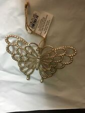 Pottery Barn Kids Glitter BUTTERFLY ORNAMENT Christmas Tree LILLY EASTER NEW