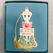"Christmas Ornament Lenox Bone China in Box #03 Retired Lamp Post 3.5"""