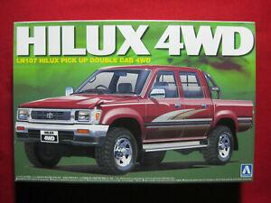 Toyota Hilux LN107 Double Cab SSR-X 4WD 1:24 Aoshima Kit Pick Up Truck Ute 4x4