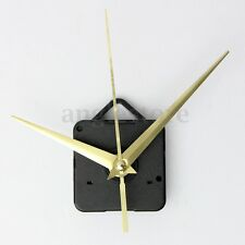 Silent Gold Hands Wall Quartz Clock Mechanism Movement DIY Repair Parts Kit Gift