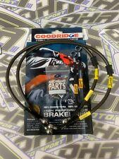 vorne /& hinten NEU ABE RD500 brake hose RD 500 LC 47X SPIEGLER STAHLFLEX kompl