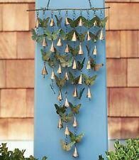 Shimmering Butterflies & Bells Wind Chime Butterfly Handcrafted Garden Yard Art