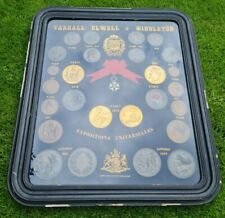 More details for paris exposition medallion coin token collection + french legion of honour medal