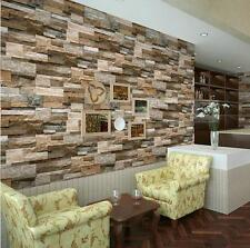 "Realistic Real Stacked Brick Stone Vinyl Background Wallpaper 20.8"" x 393.7"""