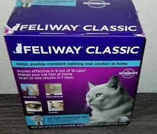 Feliway Classic 30 Day Starter Kit Plug In Diffuser & Refill Exp:07/2021