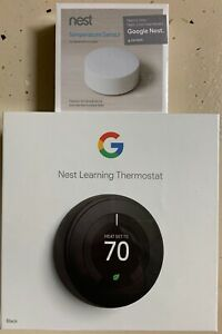 Nest Learning Thermostat 3rd Generatio with Temperature Sensor, Google Assistant
