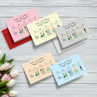 Personalised Infographic Wedding Order of Service Folded Cards | A6 Folded Cards