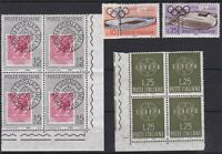 ITL156) Italy set of 4 blocks of 4 & 5 singles, 1959 Stamp Day, Europa Stamps, 1