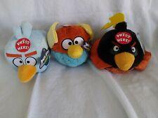 "Angry Birds plush 5"". Space Firebomb. Mega Frost. Ice Bird."