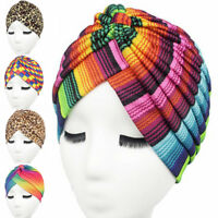 Ladies Stretchy Turban Hat Head Wrap Band Chemo Bandana Hijab Pleated Indian Cap