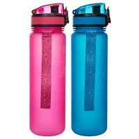 Trespass 500ml Tritan Sports Water Bottle BPA Free Lockable Flip Lid