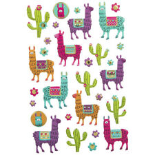 Llama Cactus Puffy Stickers Papercraft Scrapbook Planner Party Supply DIY Craft