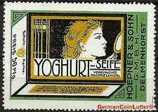 Reklamemarke - DELMENHORST, Yoghurt Seife - Hoepner & Sohn GmbH (#25988)