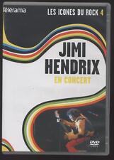 DVD JIMI HENDRIX EN CONCIERTO NUEVO SANS BLÍSTER LES ICONOS DEL ROCK 4 GUITARRA