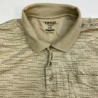 Izod Golf Polo Shirt Mens XXL Tan Mercerized Short Sleeve Casual