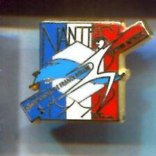 RARE PINS PIN'S .. SPORT ROLLER SKATE SKATING CUP NANTES 44 ~A1