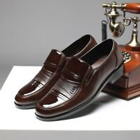 Men's Office Formal Dress Work Oxfords Leather Shoes Round Toe Business Shoes