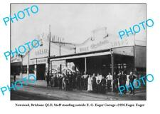 OLD 8x6 PHOTO NEWSTEAD QUEENSLAND EAGERS MOTOR GARAGE c1920 BRISBANE