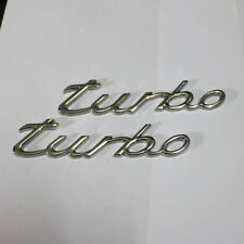 2x turbo Chrome Metal Badge Emblem Sticker Engine Sport 911 4s carrera coupe Car
