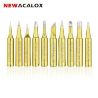10pcs Gold 900M-T Soldering Iron Solder Tip Replacement for Hakko Rework Station