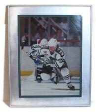 "Framed 25 inch x 20"" Houston Aeros Photograph Troy Gamble 1995 IHL Goalie #12"