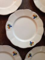 Vintage WS George Georgette Fruit Pattern bread/dessert plates (6)