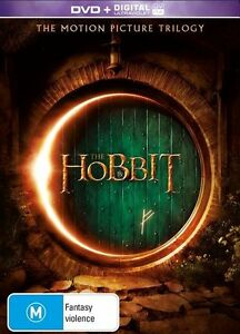 The Hobbit Trilogy DVD R4 An Unexpected Journey, Desolation of Smaug, Battle of