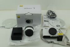 Nikon 1 J1 10.1MP Digital Camera White Kit w/ VR 10-30mm Lens and Original Box