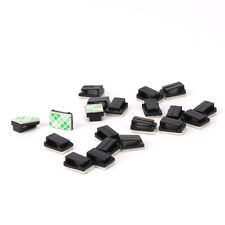 Small Self Adhesive Sticky Wire Cable Clip for Speaker Phone GPS Pack of 20