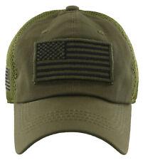 NEW! USA FLAG MILITARY TACTICAL DETACHABLE BASEBALL CAP HAT OLIVE