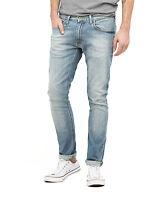 Lee Luke Slim Tapered Denim Jeans New Mens Stretch Regular Rise Sun Faded Green