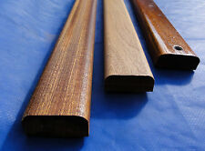 mahogany sapele quality moulded  bench slats  45mm x 20mm lath