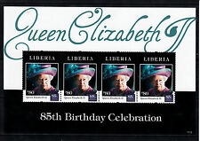 Liberia 2011 MNH Queen Elizabeth II 85th Birthday Celebration 4v Sheetlet