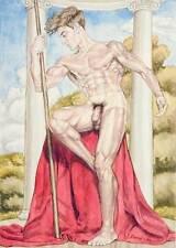 Oh boy, homme nu, watercolor print nude male Zeus greek mythology gay interest