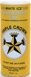 TABLE SHUFFLEBOARD POWDER WAX - TRIPLE CROWN WHITE ICE -12 PACK