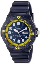 Casio MRW200HC-2B Mens 100M Blue Diver Classic Sports Watch NEW Resin GLOSSY