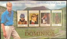 Dominica- Prince William 18th Birthday Stamp Sheetlet of 4 MNH