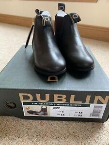 Dublin Foundation Jodhpur Boots Brown Childs UK 13